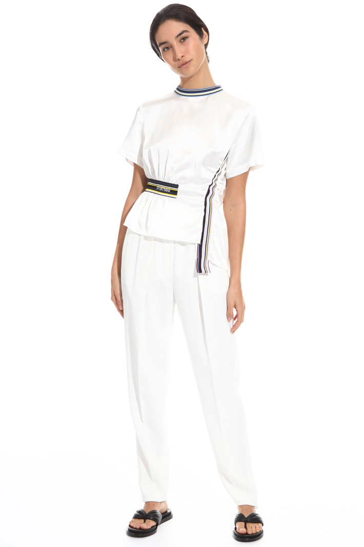 High-waist cady trousers Intrend