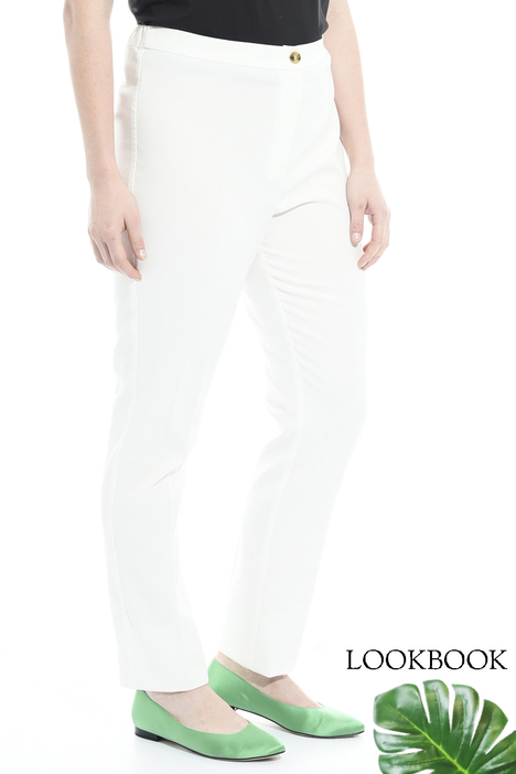 Cigarette trousers in cotton Intrend