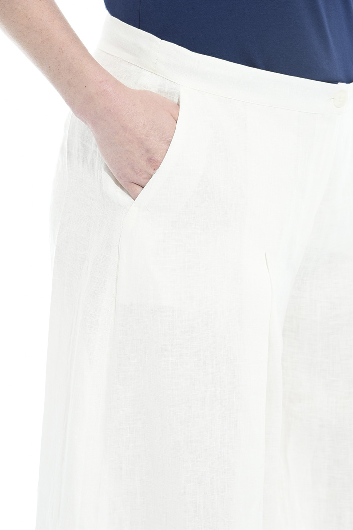 Pleated linen trousers Diffusione Tessile