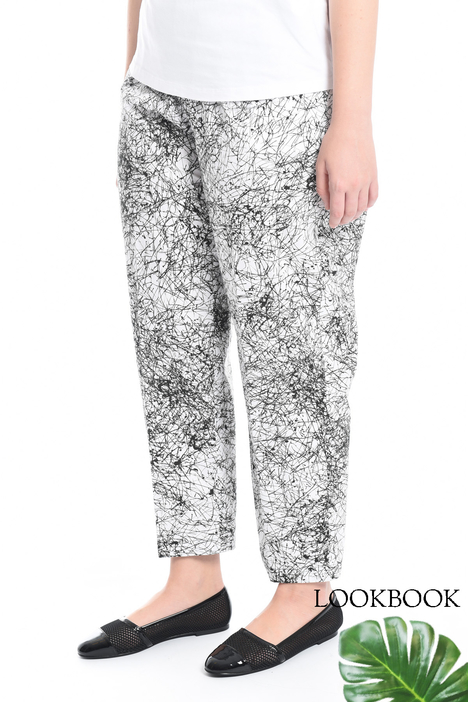 Pantaloni in popeline stampato Diffusione Tessile