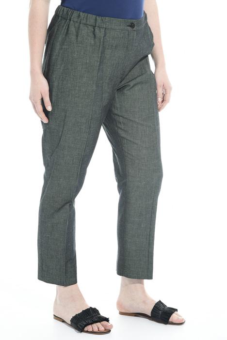 Pantaloni in cotone e lino Diffusione Tessile