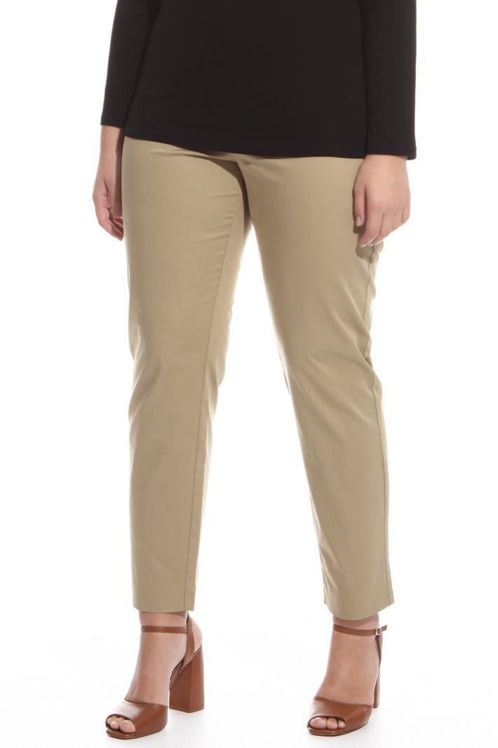 Pantalone in raso di cotone Intrend