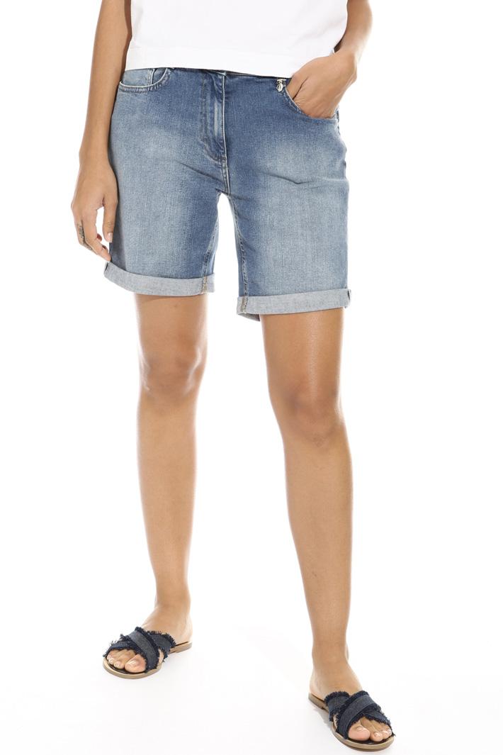 Stretch denim short trousers Intrend