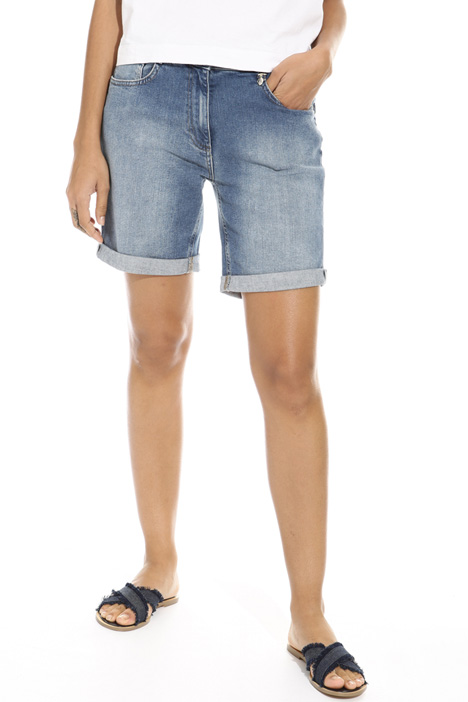 Stretch denim short trousers Intrend