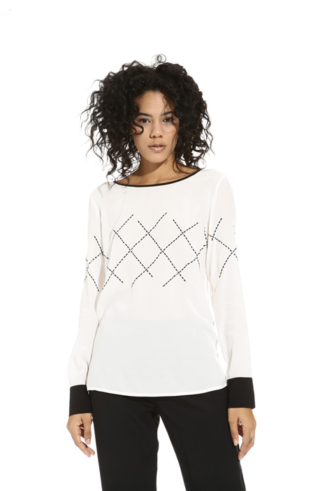 Blusa con strass applicati Intrend