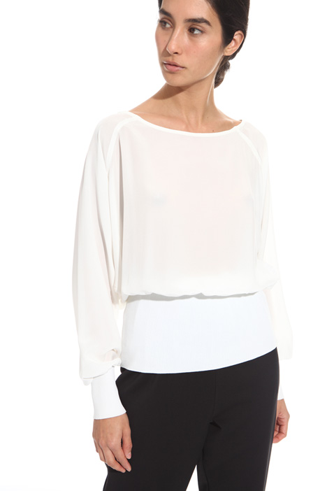 Top with knit inserts Diffusione Tessile