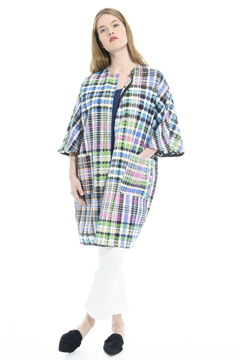 Checked duster coat Diffusione Tessile