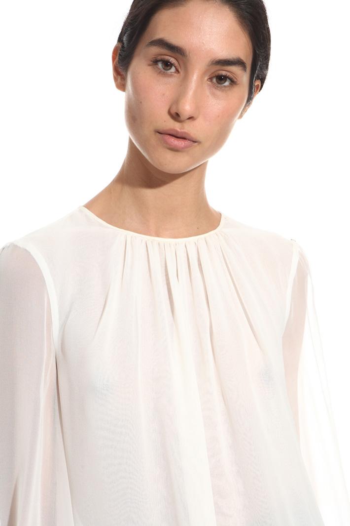 Silk georgette blouse Diffusione Tessile