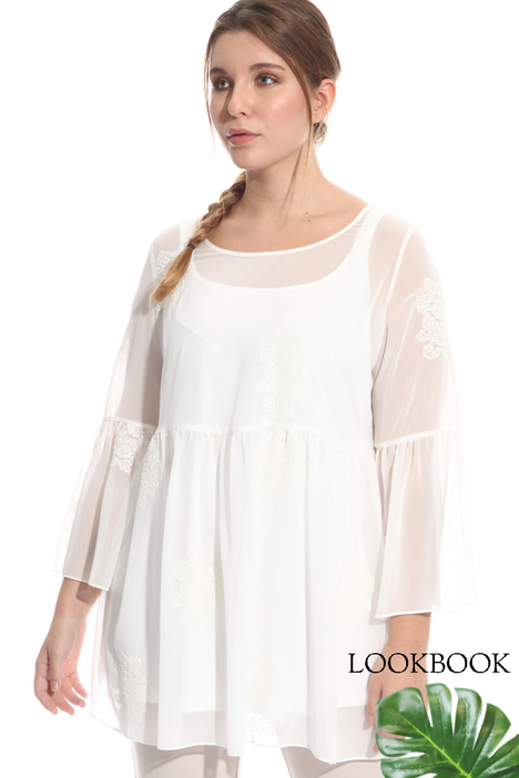 Embroidered georgette blouse Diffusione Tessile