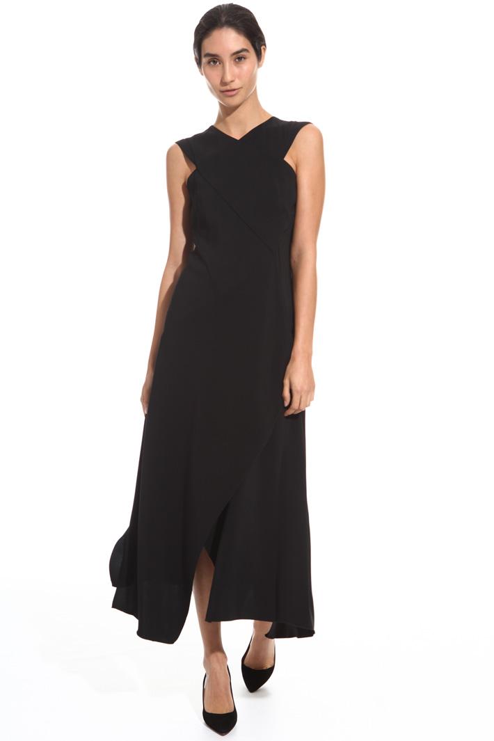 Crossed neckline dress Intrend