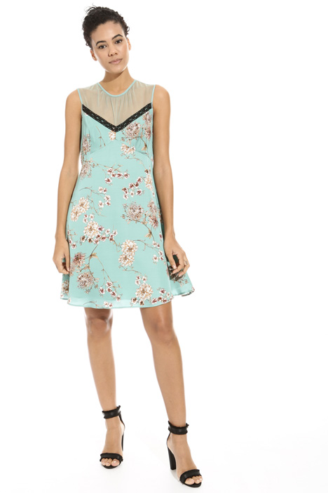 Printed satin dress Diffusione Tessile