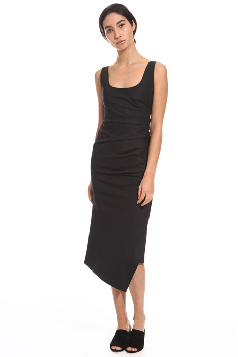 Draped longuette dress Diffusione Tessile