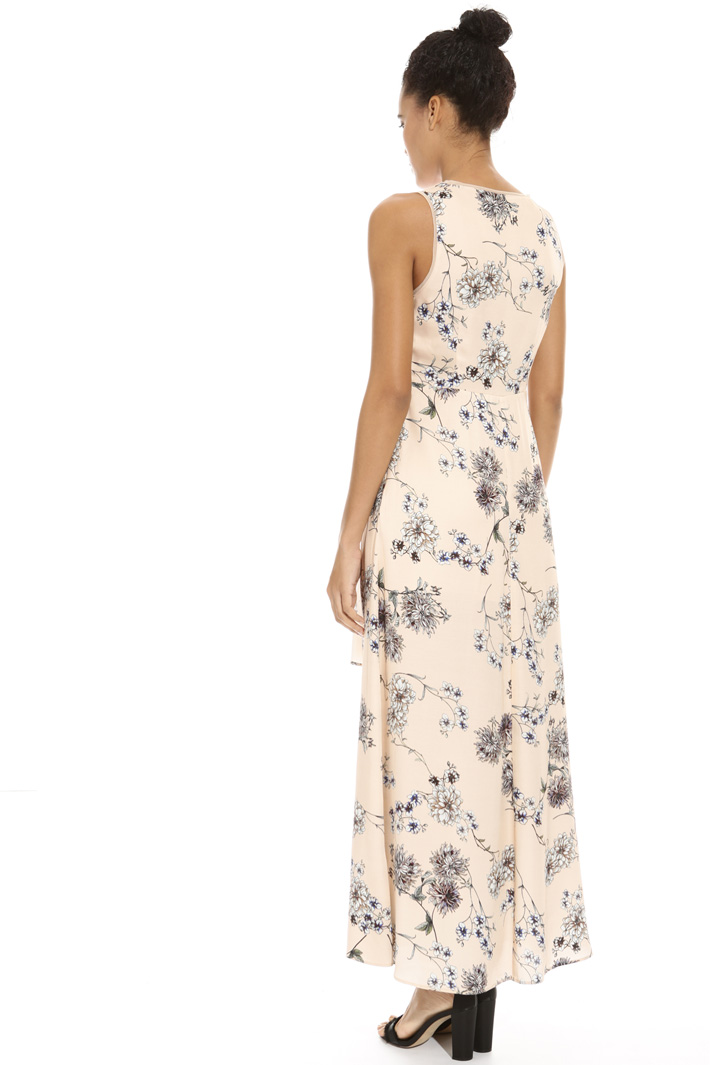 Long printed satin dress Intrend