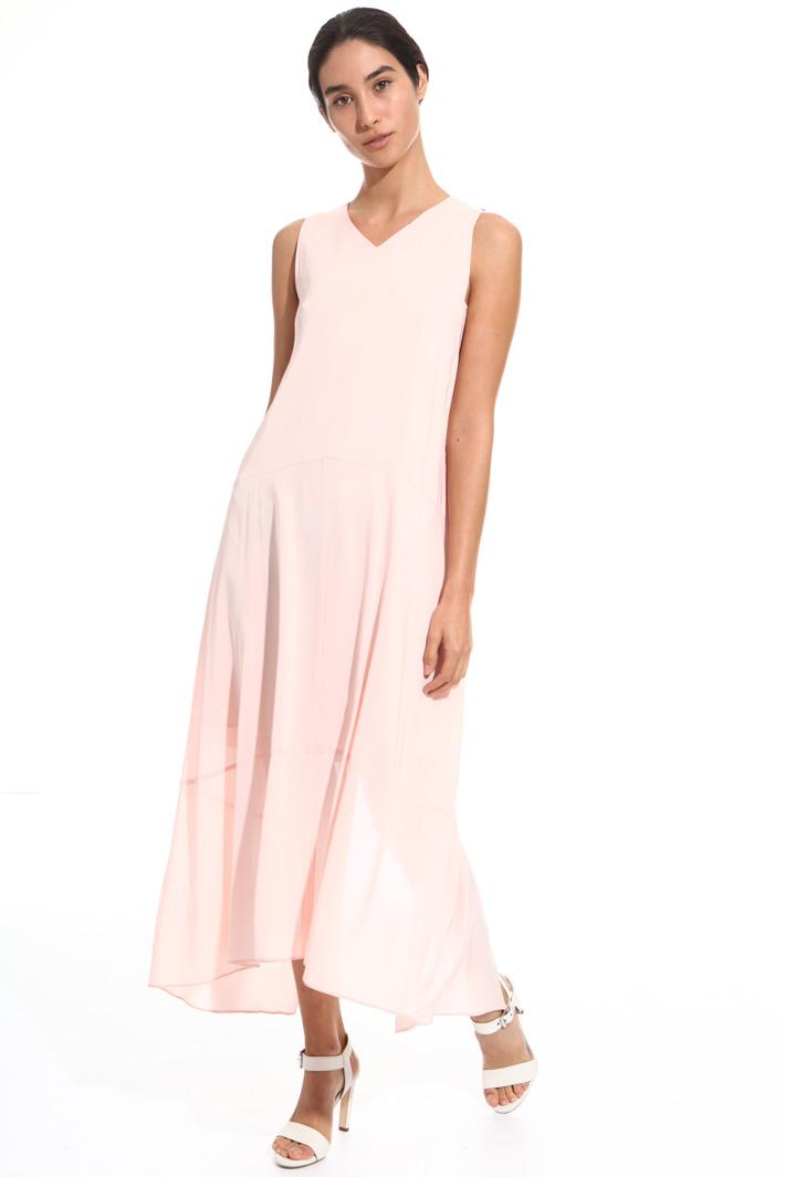 Back slit dress Intrend