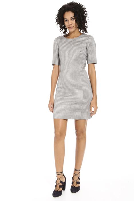 Sheath dress in jacquard fabric Intrend