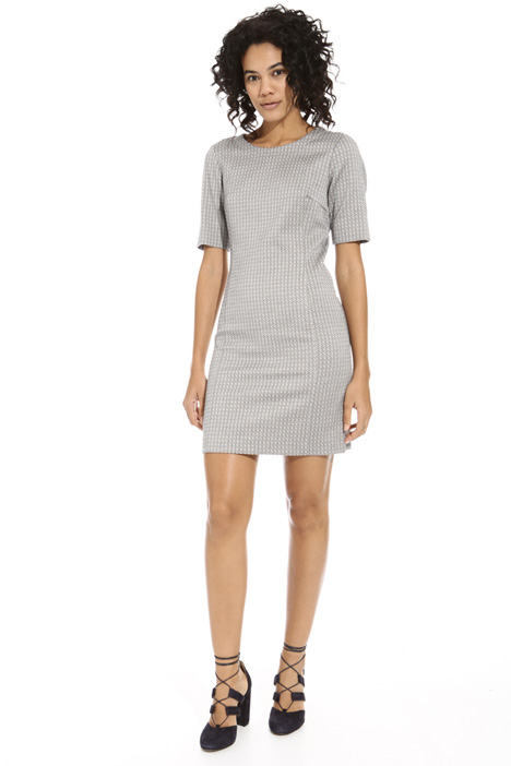 Sheath dress in jacquard fabric Intrend