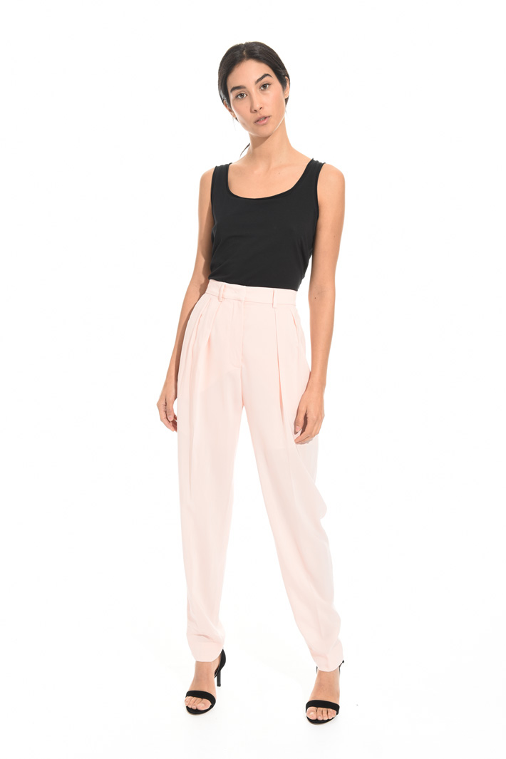 Long georgette trousers Diffusione Tessile