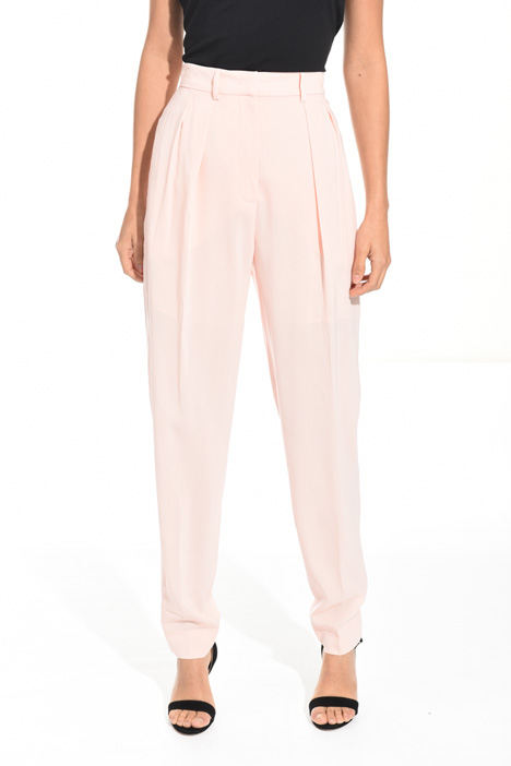 Pantalone lungo in georgette Diffusione Tessile
