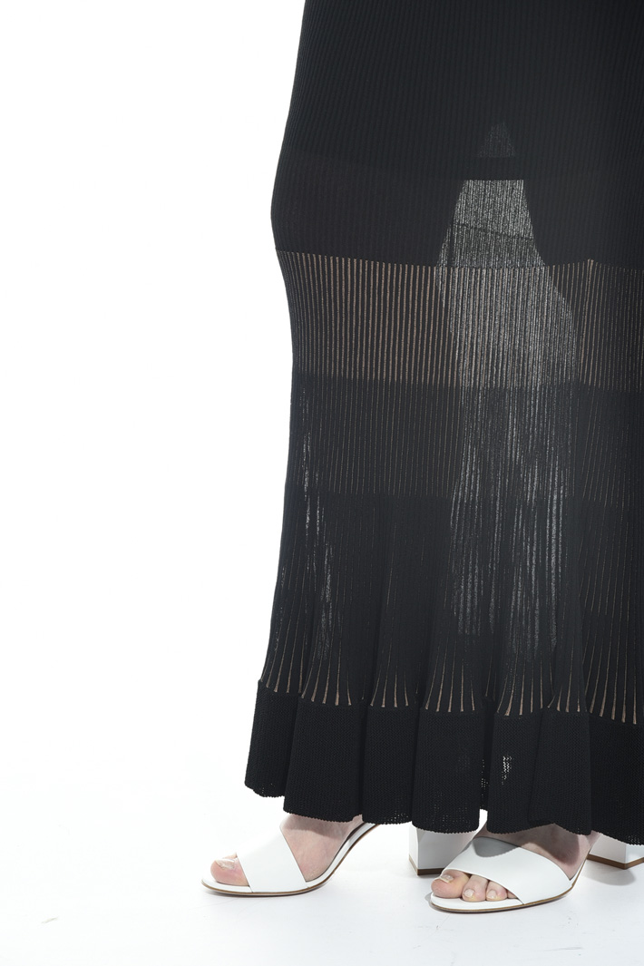 Ribbed viscose skirt Intrend