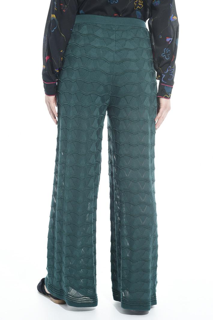 Pantalone palazzo in maglia Intrend