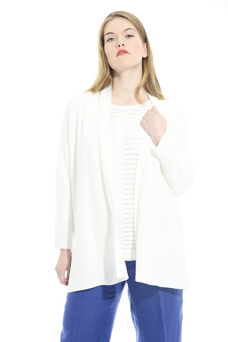 Ribbed detail cardigan Intrend