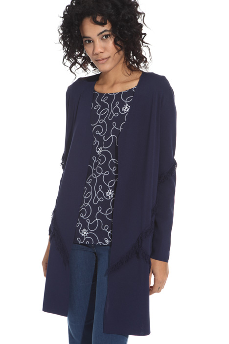 Fringed viscose cardigan Intrend