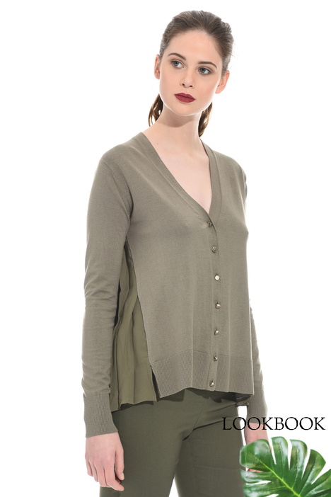 Pleated back cardigan Intrend