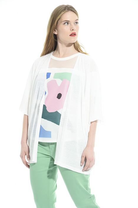 Kimono sleeve cardigan Diffusione Tessile