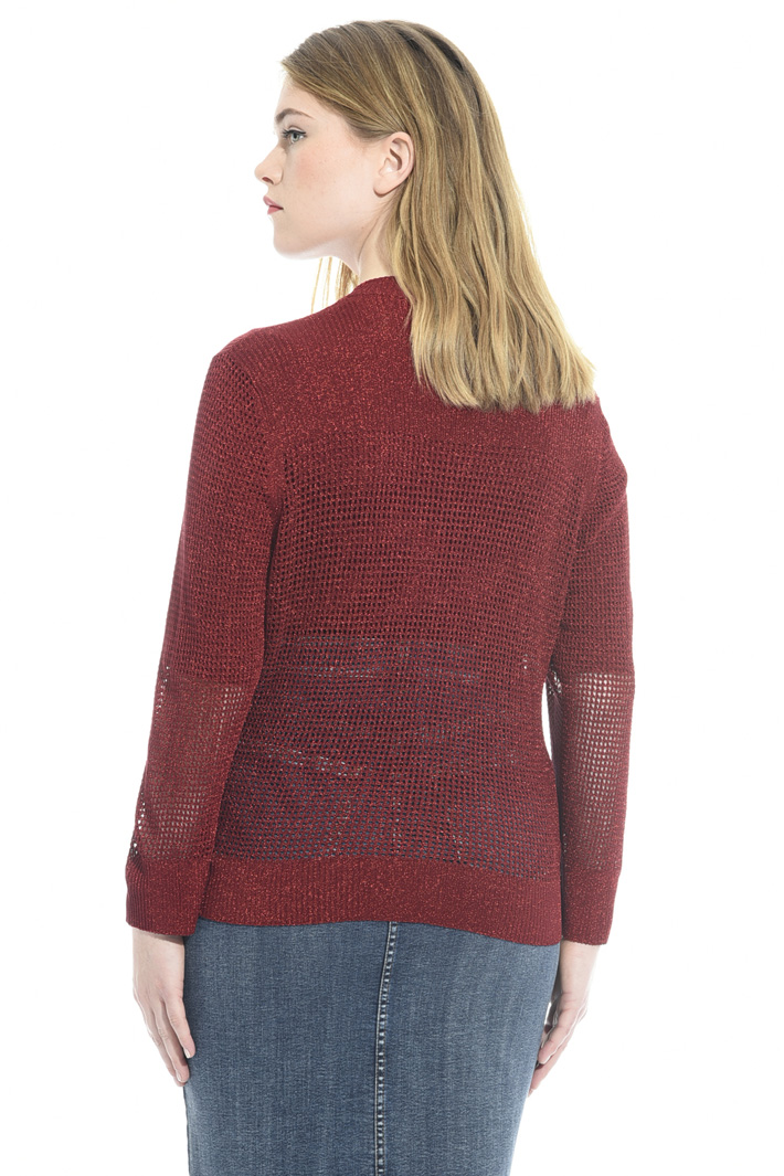 Knitted lamé cardigan Intrend