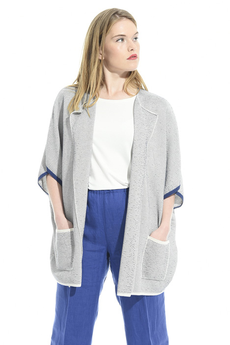 Cardigan in cotone bicolor Intrend
