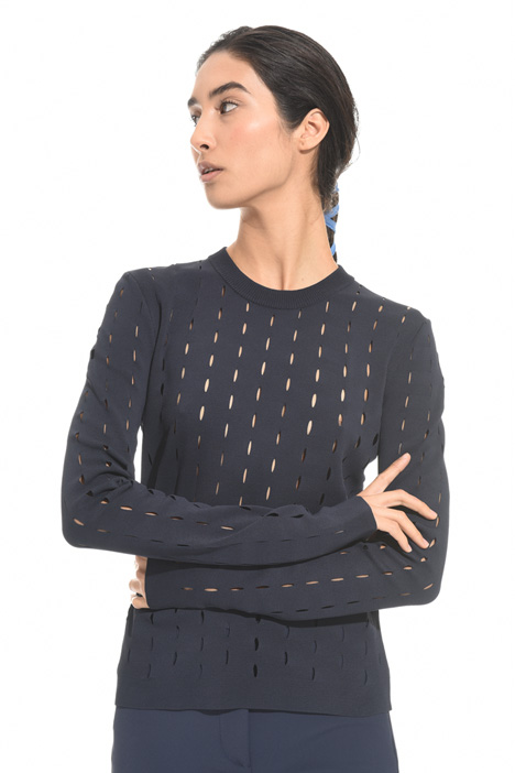 Perforated viscose sweater Diffusione Tessile