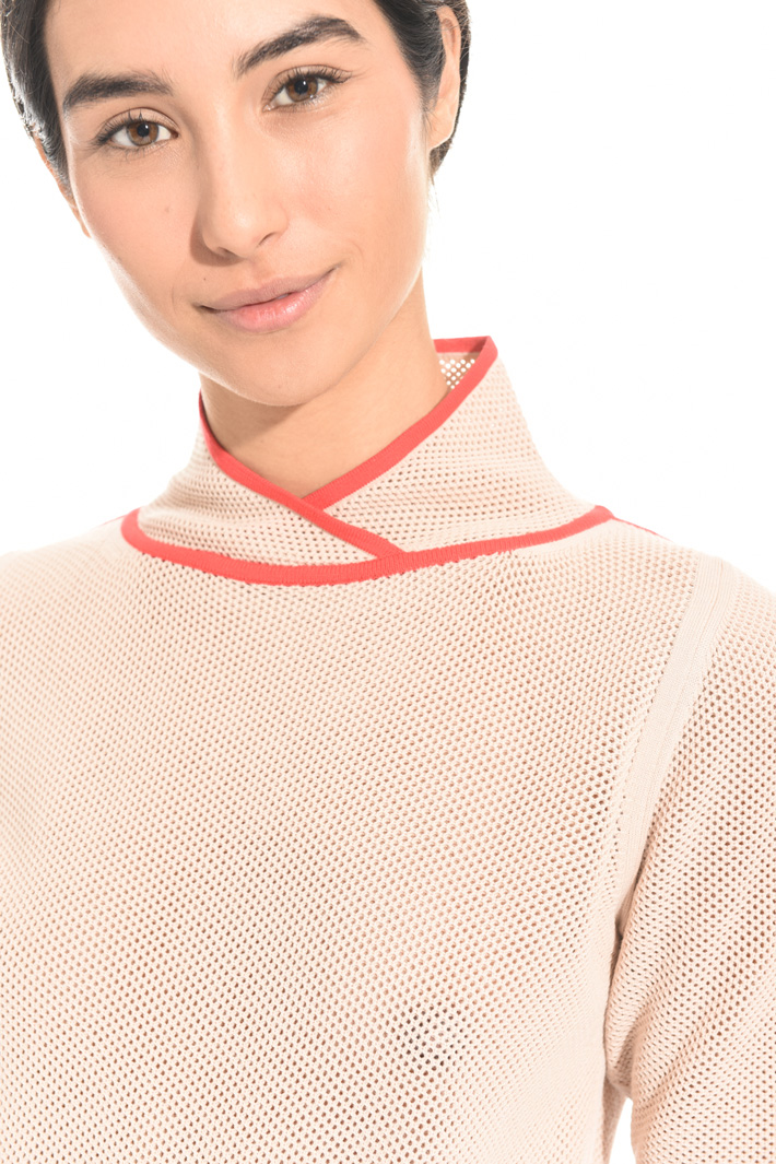 Mesh knit top Intrend