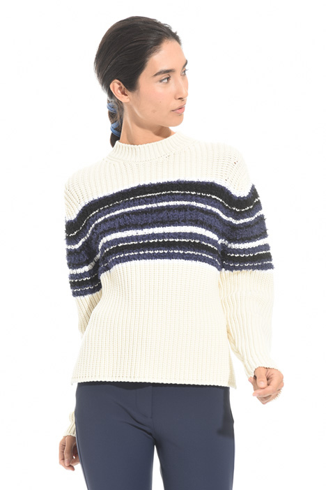 Ribbed cotton sweater Diffusione Tessile