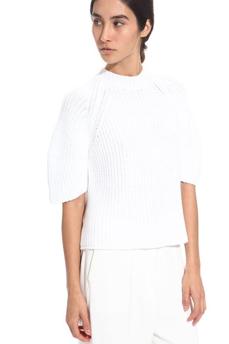 Boxy fit cotton sweater Diffusione Tessile