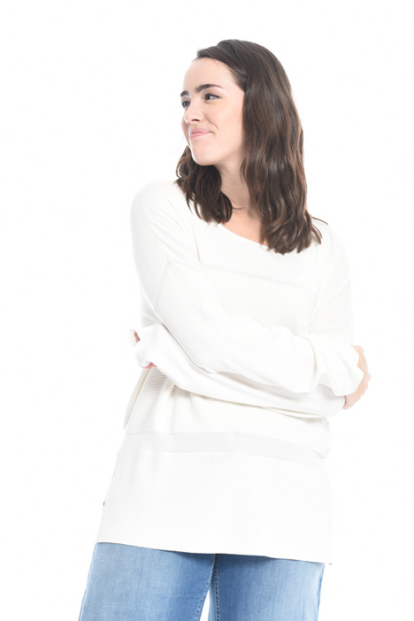 Ribbed insert sweater Intrend