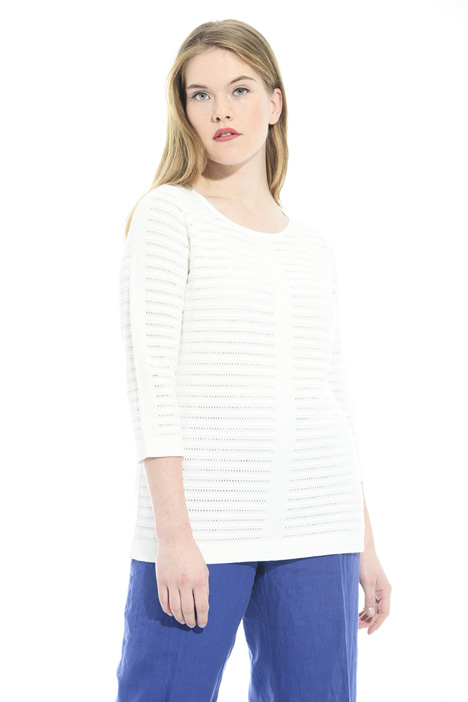 Mesh cotton sweater Intrend