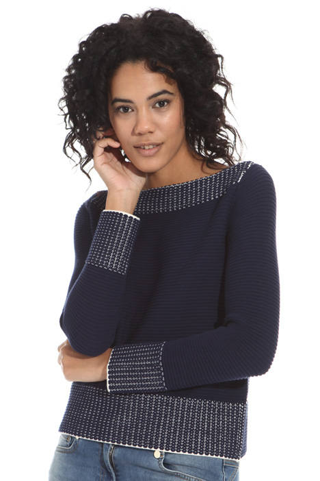 Links-links stitch sweater Intrend