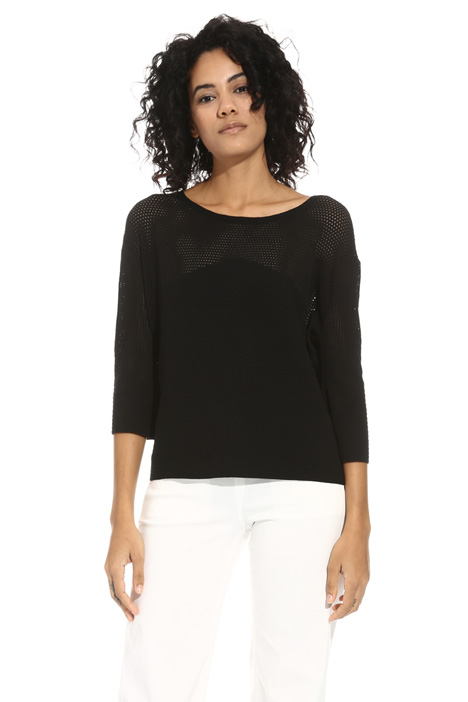 Boxy fit viscose sweater  Intrend