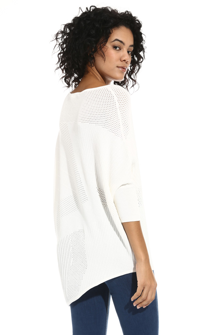 Asymmetrical mesh sweater Intrend