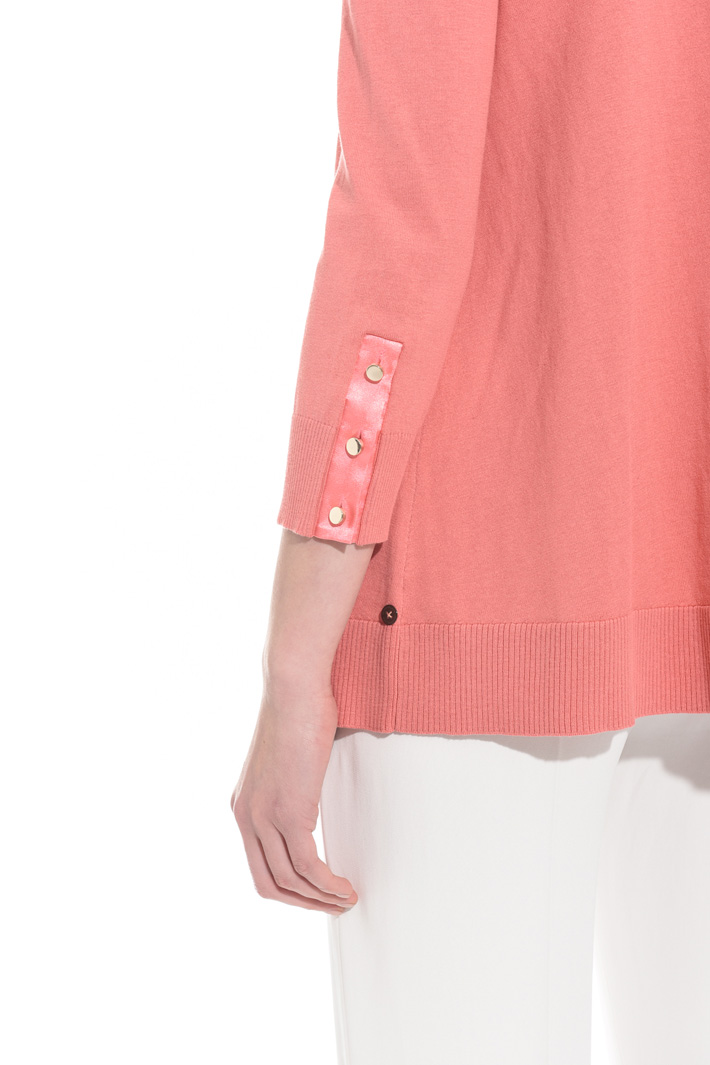 Loose silk and cotton sweater Intrend