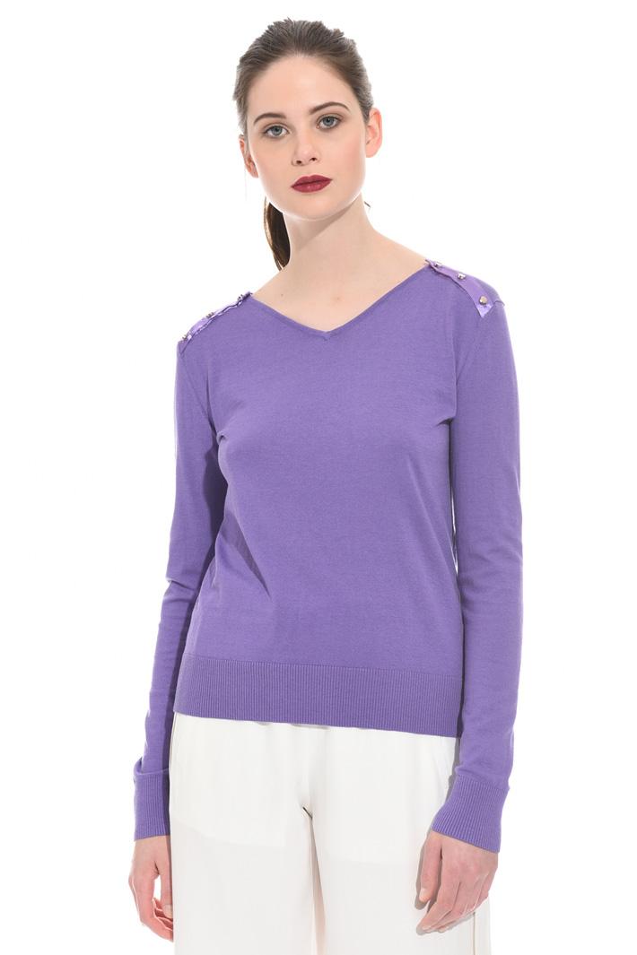 Decorative button sweater Intrend