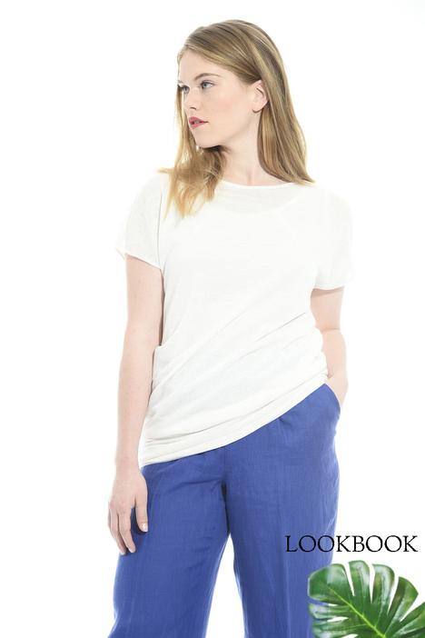 Asymmetric linen sweater Intrend