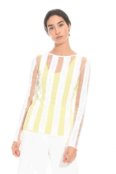 Sheer striped sweater Diffusione Tessile