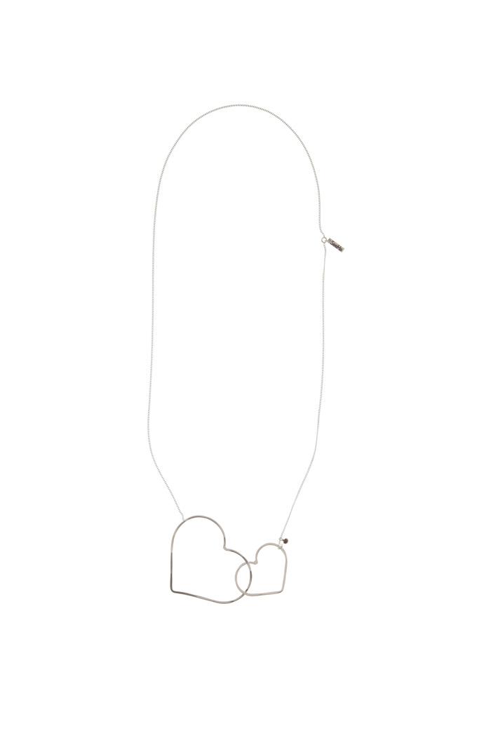 Heart silver necklace Diffusione Tessile