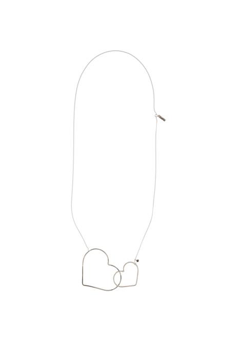Collana silver con cuori Diffusione Tessile