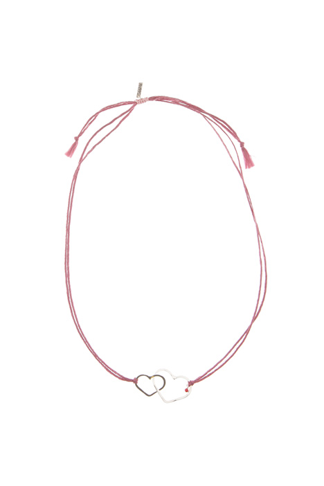 Heart charm necklace Diffusione Tessile