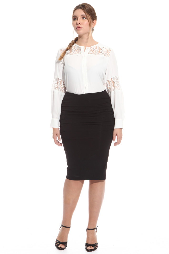 Crepe jersey pencil skirt Intrend
