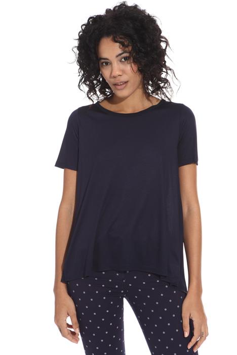T-shirt con pannello plissé Intrend
