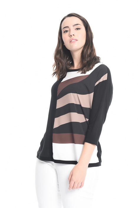 T-shirt in jersey and crepe Diffusione Tessile