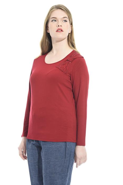 T-shirt con fiocco e strass Diffusione Tessile